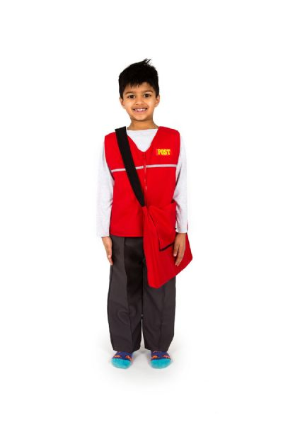 Children's Boys Girls Postman Postal Worker Fancy Dress Costume Like Postman Pat